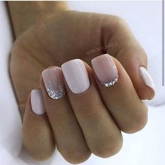 130 glitter gel nail designs for short nails for spring 2019 page 20 . - 130 glitter gel nail designs for short nails for spring 2019 page 20 – … – - Glitter Gel Nails, Cute Acrylic Nails, Cute Nails, Pretty Nails, My Nails, Nails With Glitter Tips, Nail Designs With Glitter, Nail Art Toes, Silver Sparkle Nails