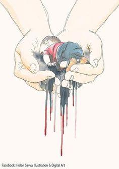 Un dessin pour interpeller et rendre hommage au petit Aylan.