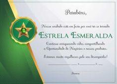 Certificado MK Esmeralda (22x16 cm)