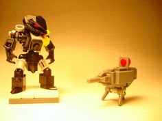 https://flic.kr/p/dw9pXx | Commando Grade LOCUST Armor Skin and Autosentry | Last-minute LEGO scrunch before thanksgiving break is over! D;