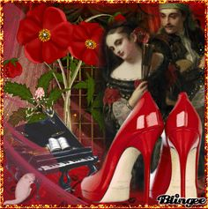 Red High Heels    my Art   Jane's Doll Closet
