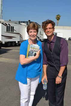 Judy with Matthew Gray Gubler on the set of Criminal Minds. (merletemple.com)