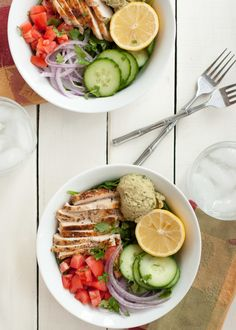 Power Chicken Hummus Bowl {Panera Copycat Recipe} - Nutritious Eats