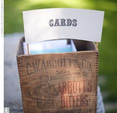 Card-collecting at reception