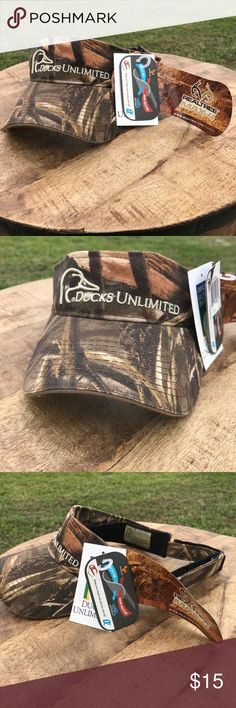 Ducks Unlimited  visor NEW WITH TAGS never worn Ducks Unlimited visor! Purchased for $20. Ducks Unlimited Accessories Hats