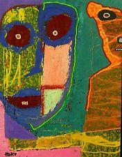 MOUSE TRAP DISGUISE Hoke Outsider RAW Folk Abstract Art Brut Painting Grafitti