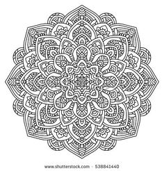 Abstract Ornate Background For Design