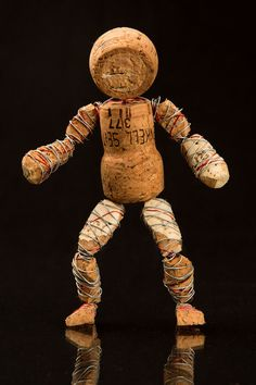 Wine Corks Art Sculpture Cheeky Cork by Corkmen on Etsy
