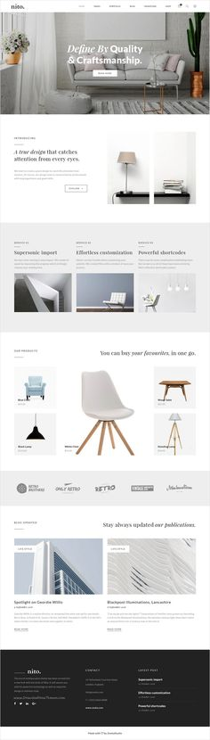 Nito is a clean and minimal multipurpose #WordPress theme for stunning #interior #designer website with 21+ unique homepage layouts download now➩ https://themeforest.net/item/nito-a-clean-minimal-multipurpose-wordpress-theme/17897172?ref=Datasata