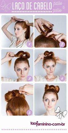 Laço de cabelo: como fazer um coque em laço - taofeminino
