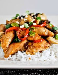 healthier cashew chicken I howsweeteats.com