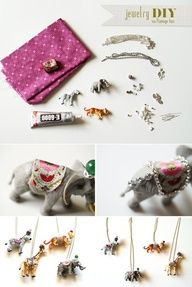 Darn cute jewelry DIY via Flamingo Toes..I saw these on anthropology an really wanted to do this awesome. ....
