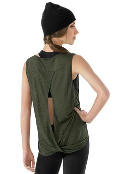 This open back tank top is so cute for hip hop.