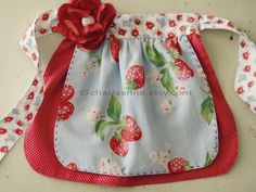strawberry apron. $30.00, via Etsy.