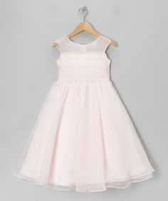 Take a look at this Pink Tie-Back Cap-Sleeve Dress - Girls by Kid's Dream on #zulily today!