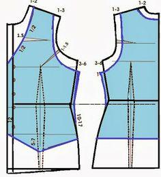 El costurero de Stella: Como hacer un chaleco a partir del basico de blusa