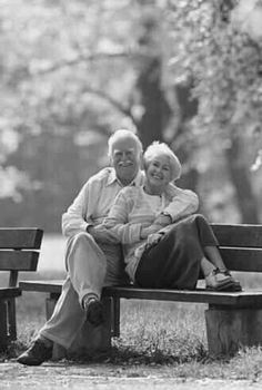 Love.. .. on a park bench : )