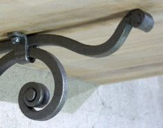 gorgeous and elegant hand forged wrought iron shelf bracket that will make great addition to your