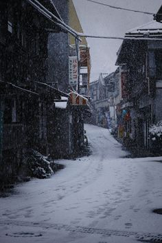 fuckyeahjapanandkorea: SNOW DAY by shimaonsen Snow In Japan, Winter In Japan, Winter Wallpaper Desktop, Yuki Onna, Japan Street, City Vibe, Winter Scenery, Dark Photography, Japanese Architecture