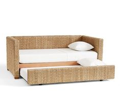 seagrass daybed with trundle pottery barn