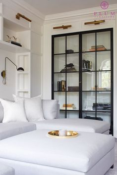 Amazing Steel Doors! By Colleen McGill of McGill Design Group Inc. www.mcgilldesign.ca also featuring The Williamson Sectional and Ottoman by Plum Furniture www.myplumdesign.com