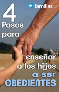Cuatro pasos para enseñar a los hijos a ser obedientes