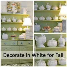 Decorating in White for Fall