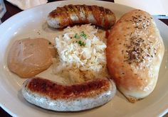 The wurst platter at Bavarian Brauhaus