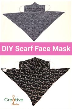 Sewing Patterns Free, Free Sewing, Sewing Tutorials, Sewing Crafts, Free Pattern, Easy Face Masks, Diy Face Mask, Scarf Design, Mask Design