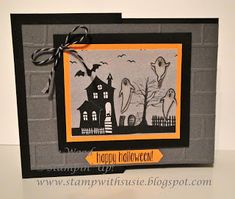 Stampin' Up!- Here is a haunted house and some spooky ghosts- just in time for Halloween!