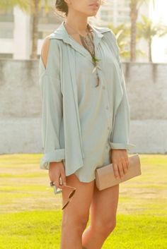 Totes just bought a top like this. Buy mint colored things! Super popular this spring ;)
