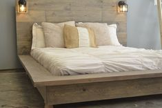 Quilmes Floating Rustic Wood Platform Bedframe by KnotsandBiscuits, $965.00 #Rusticwood