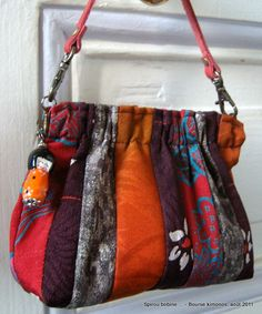 a39272802e52 Little japanese bag in old kimonos fabrics. ShaRon Nail · bags asian