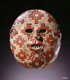 Chupicuaro Mask Description: Michoacan. painted clay. Chupicuaro. Burial Mask with geometric design. Published Ancient West Mexico p.288