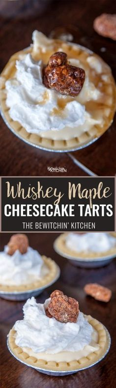 This no bake boozy dessert recipe packs a bite. Canadian whiskey, maple syrup gives this creamy cheesecake a Canadian spin. Brownie Desserts, Oreo Dessert, Mini Desserts, No Bake Desserts, Easy Desserts, Individual Desserts, Tart Recipes, Best Dessert Recipes, Sweet Recipes