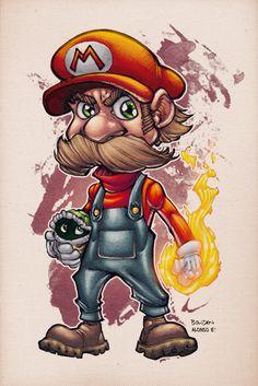 Mario by AlonsoEspinoza.deviantart.com on @deviantART #mario #rage #nintendo #fanart #deviantart #supermario #mariobros #design #gamer #gaming #retro #oldschool #classic #8bit #16bit #8bitevolution