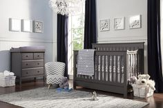 DaVinci Piedmont 4-in-1 Convertible Crib with Toddler Rail, Slate $289