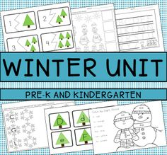 This Winter Unit Includes:  *Uppercase and Lowercase Letter Practice *Number Recognition *Handwriting Practice *Patterns *Winter Picture Matching