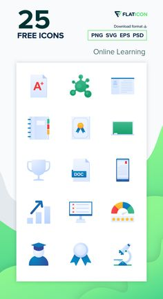 25 Online Learning icons for personal and commercial use. Inipagistudio Flat icons. Download now free icon pack from Flaticon, the largest database of free vector icons. #Flaticon #icons #teacher #education #school #college