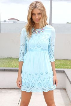 Sabo skirt light blue embroidered dress...  It needs to be a little bit longer but still super cute