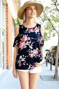 LA Showroom provides access to the biggest selection of wholesale fashion clothing & accessories. Shop directly from top Los Angeles fashion suppliers and more. Sew Off Shoulder Top, Floral Cold Shoulder Top, Western Dresses, Western Outfits, Floral Shorts, Floral Tops, Wholesale Fashion, Petite Fashion, Short Outfits