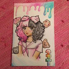 Crybaby Melanie Martinez, Melody Martinez, Melanie Martinez Drawings, Kawaii Doodles, Marina And The Diamonds, Cry Baby, Easy Drawings, Artsy, Fan Art