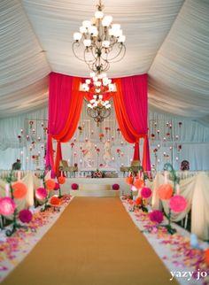 Indian Wedding Indoor Ceremony (Fabric Decor)