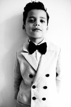 My Little Dress Up SS14 - Steel tuxedo and raffish bow tie for boyswear summer 2014 #kids #fashion
