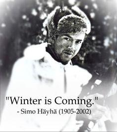 Simo Hayha: The White Death, my new hero.