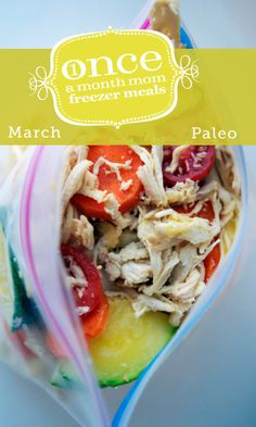 Paleo March 2013 Freezer Menu #paleo #freezer #whole30