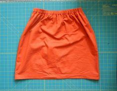 Simple Elastic Waist Skirt
