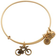 Alex and Ani Bike Expandable Wire Bangle, Charity by Design Collection ($30) ❤ liked on Polyvore featuring jewelry, bracelets, hinged bangle, bracelets bangle, expandable bangle, bangle jewelry and wire bangle