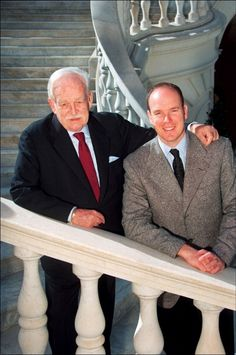 Prince Ranier and Prince Albert of Monaco