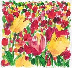 Hey, I found this really awesome Etsy listing at https://www.etsy.com/listing/70890593/tulips-field-study-art-print-of-acrylic